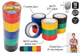 10Pc ELECTRICAL TAPE 19mmx3M