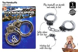1PCE TOY HANDCUFFS CHROME PLATED