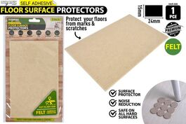 1pack HEAVY DUTY FELT PAD-24x15cm-SELF ADH