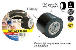 1PCE DUCT TAPE - BLACK 18m x 48mm