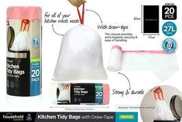 DURAMAX - KITCHEN TIDY BAGS WITH DRAWTAPE - MEDIUM