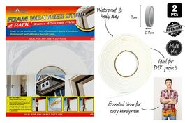 2pce Foam Weather Strips-9mmx4.5M Each