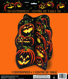 HALLOWEEN 3D TABLE CENTERPIECE PUMPKIN