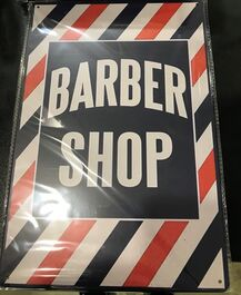 4D METAL TIN SIGNS-BARBER SHOP