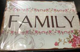 4D METAL TIN SIGNS-FAMILY