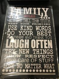 4D METAL TIN SIGNS-FAMILY RULES