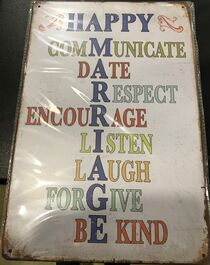 4D METAL TIN SIGNS-HAPPY COMMUNICATION