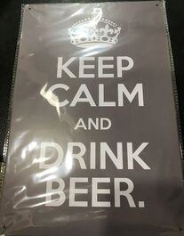 4D METAL TIN SIGNS-KEEP CALM