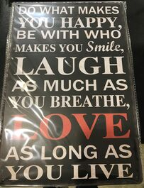 4D METAL TIN SIGNS-LAUGH