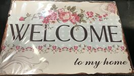 4D METAL TIN SIGNS-WELCOME