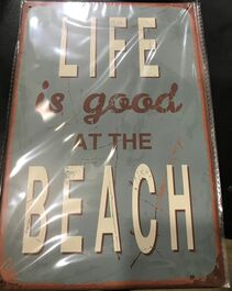 4D METAL TIN SIGNS-LIFE IS GOOD