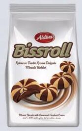 ALDIVA - BISSROLL - MOSAIC BISCUITS WITH COCOA AND HAZELNUT CREAM - 180G