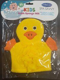SWISSCARE - SPA SAVVY - KIDS BATH SPONGE MIT