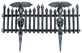 BAT PICKET FENCE - BLACK
