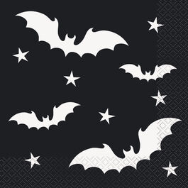 HALLOWEEN BLACK BATS LUNCH NAPKINS
