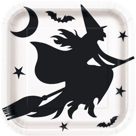 HALLOWEEN BLACK BATS PLATES