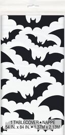 HALLOWEEN BLACK BATS TABLECOVER