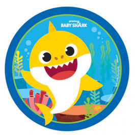 Baby Shark Rnd Plate 17cm