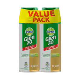 DETTOL - GLEN 20 - ORIGINAL - SPRAY DISINFECTANT, 2 X 300G VALUE PACK