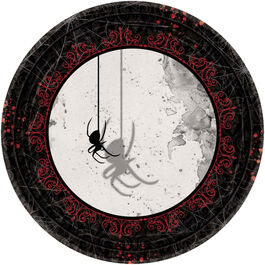 HALLOWEEN DARK MANOR ROUND PLATES