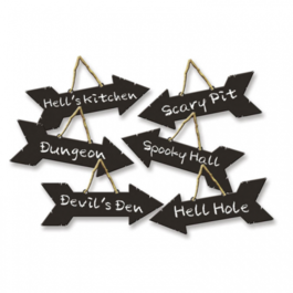 HALLOWEEN DIRECTION ARROWS HANGING SIGNS