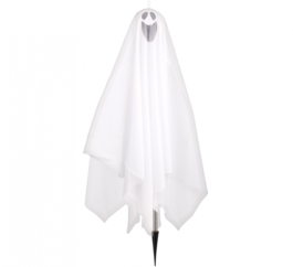 HALLOWEEN FABRIC GHOST WITH STAKE