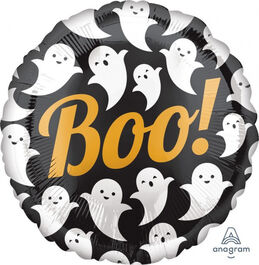 HALLOWEEN FOIL BALLOON BOO GHOSTS
