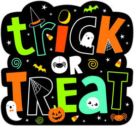 HALLOWEEN FRIENDS TRICK OR TREAT CUTOUT