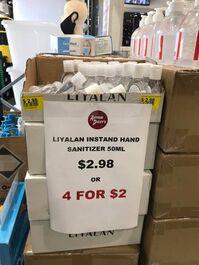 LIYALAN INSTAND HAND SANITISER 50ML 4Pack
