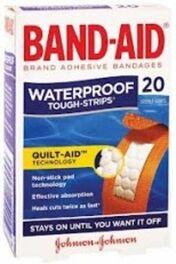 J&J BAND AID TOUGH STRIPS WATERPROOF 20 PK