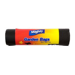 MIGHTY - GARDEN BAGS WITH TWIST TIES - 10 PACK - BLACK