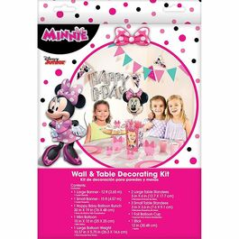 MINNIE MOUSE WALL & TABLE DECORATING KIT