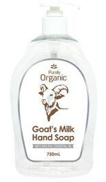 NATURALLY ORGANIC GOAT'S MILK HAND SOAP 750mL