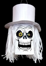 HALLOWEEN PINATA - TOP HAT SKULL