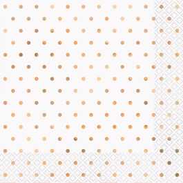 ROSE GOLD DOTS LUNCH NAPKIN