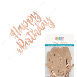 ROSE GOLD HAPPY BIRTHDAY JOINT BANNER