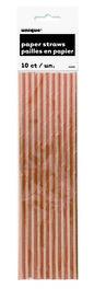 ROSE GOLD ROIL PAPER STRAWS