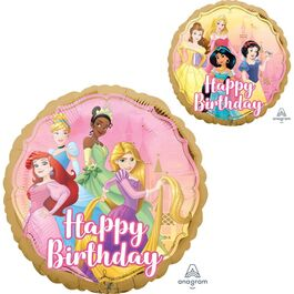 STANDARD FOIL BALLOON - HAPPY BIRTHDAY DISNEY PRINCESS