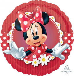 STANDARD FOIL BALLOON - MAD ABOUT MINNIE