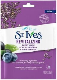 ST IVES - REVITALISING SHEET MASK - ACAI, BLUEBERRY & CHIA SEED - SINGLE PAC