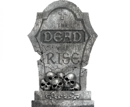 THE DEAD WILL RISE TOMBSTONE STYROFOAM DECORATION