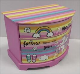 UNICORN MAKEUP BOX/DRAWER 24*16.5*20.3