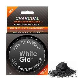 WHITE GLO CHARCOAL TEETH WHITENING POWDER 30G