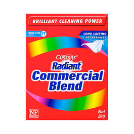 CUSSONS - RADIANT COMMERCIAL BLEND LAUNDRY POWDER 2KG